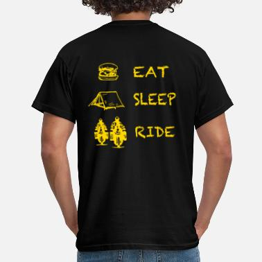 Twin Eat Sleep Ride - Männer T-Shirt