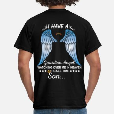 Son My Son Is My Guardian Angel - Men's T-Shirt