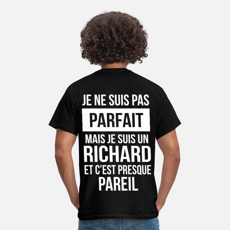 Richard T-shirts - Nom de Famille - RICHARD - T-shirt Homme noir