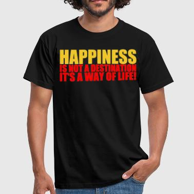 happiness - Männer T-Shirt