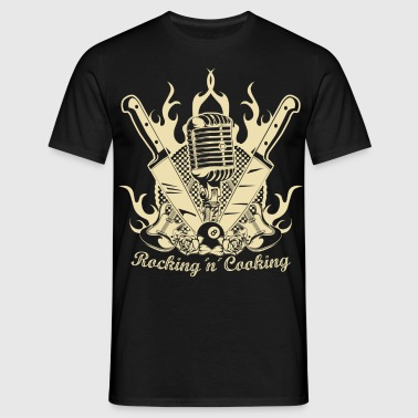 Rocking and Cooking - Männer T-Shirt