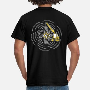 Abrissbirne Tekno 23 crane - sound wrecking demolition ball - Männer T-Shirt