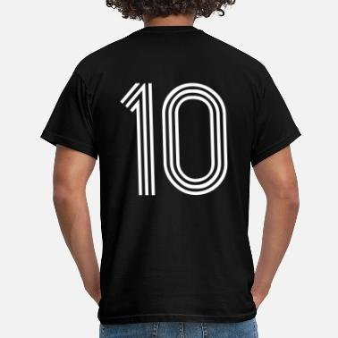 Back Number 10, best football, fußball, football, soccer, sports, Zahlen, Ziffern, Numbers, Rennen, Race, www.eushirt.com - Men's T-Shirt