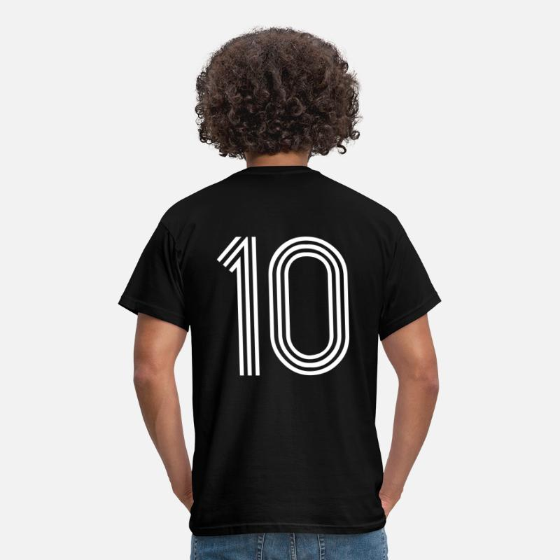 Number T-Shirts - 10, best football, fußball, football, soccer, sports, Zahlen, Ziffern, Numbers, Rennen, Race, www.eushirt.com - Men's T-Shirt black
