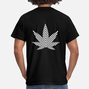 Cannabisblad cannabisblad - T-shirt herr