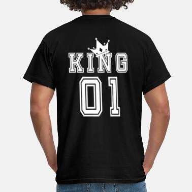 King Queen Valentine's Day Matching Couples King Jersey - T-skjorte for menn