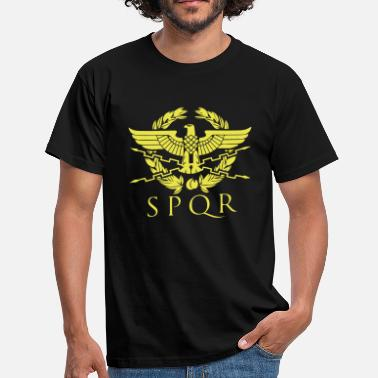 Roman Eagle spqr hemblem - Men's T-Shirt