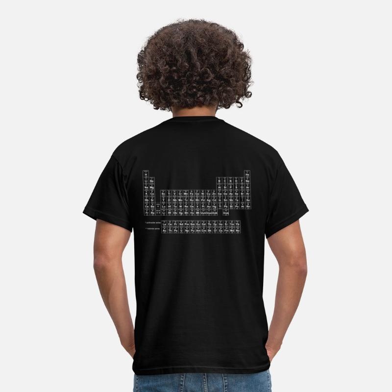 Geek T-shirts - periodic_table_of_elements1 - T-shirt Standard Homme noir