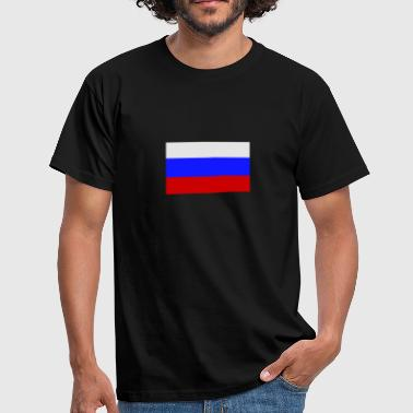 Russland Russia Flagge Fahne Russland, Russia, Fahne, Flagge - Männer T-Shirt