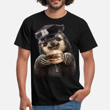 Sloth BURGER COP - Men's T-Shirt