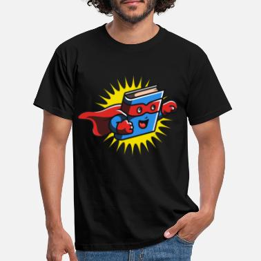 Comic Book Book Hero Reading Book Lover Comic Book Comics - Men's T-Shirt