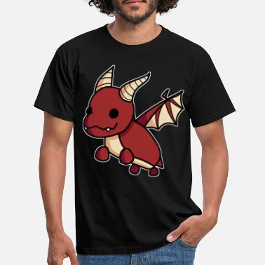 Red Dragon Pet Cute Hand Drawn Gaming Gift - T-shirt mænd