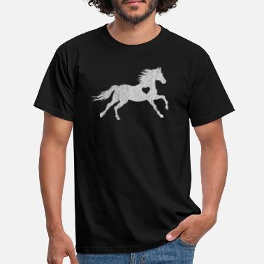 Stud Horse, horses, riding, rider, stallion, race, S - Men's T-Shirt