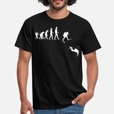 Diving Evolution of Man Scuba Diving - Men's T-Shirt