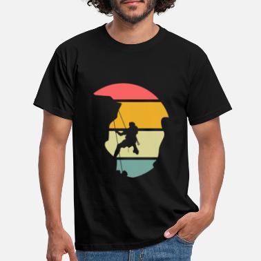 Rock Climbing Rock climber gift - Men's T-Shirt