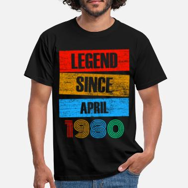 Legend Siden april 1980 Born Vintage Retro - T-skjorte for menn