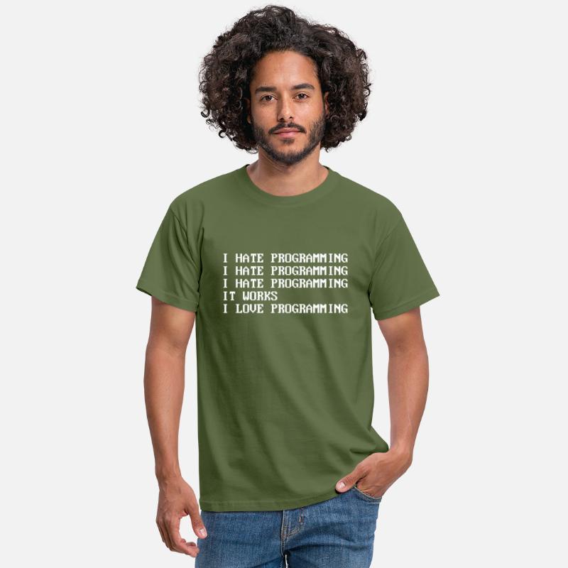 Jeg hater programmering T skjorte for menn | Spreadshirt