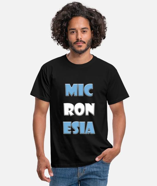 Travel T-Shirts - Micronesia country name with colors - Men's T-Shirt black
