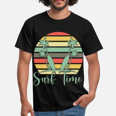 Summertime Surf time summer vibes tan sunny shirt - Men's T-Shirt