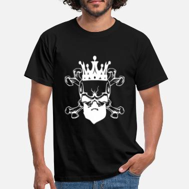 Shaved Beard skull skull design - Men's T-Shirt