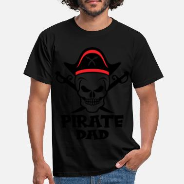 Piratkopiering Pirate Far Skull Pirate Kaptajn Outfit - T-shirt mænd