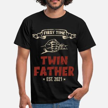 Twin First Time Twin Father Est. 2021 Zwillinge Kinder - Männer T-Shirt