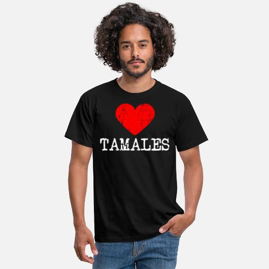 Chicken T-Shirts - Heart tamales | Love tamales - Men's T-Shirt black