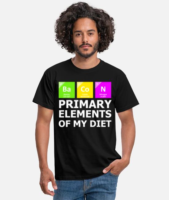 Fruit T-Shirts - Bacon Primary Elements OF My Diet - Men's T-Shirt black