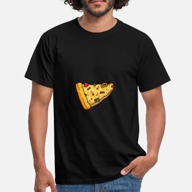 Tomato Pepperoni Pizza Slice delivery - Men's T-Shirt