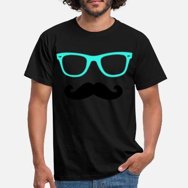 lunette_moutache - T-shirt Homme