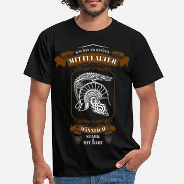 Middle Ages In the Middle Ages Male Strong with beard helmet - Men's T-Shirt