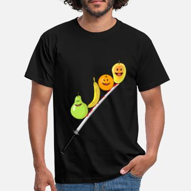Orchard Fruit Fruits Katana Vegan Healthy Vitamins - Men's T-Shirt