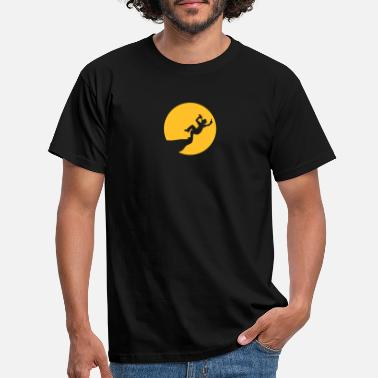 Show Jumping Nightmoon cliff suicide life drink rush jump drink - Men's T-Shirt