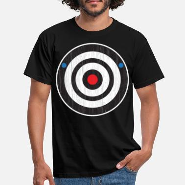 Vlek Bullseye Axe Throw Sport Bull's Eye Axe Gooi - Mannen T-shirt