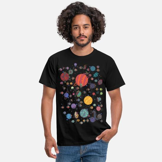 Rectangle T-Shirts - Space Planet Galaxy Graphic - Men's T-Shirt black