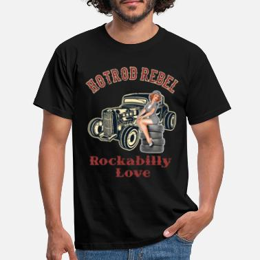 Hot Rod Hot Rod Rebel Rockabilly Love - T-shirt mænd