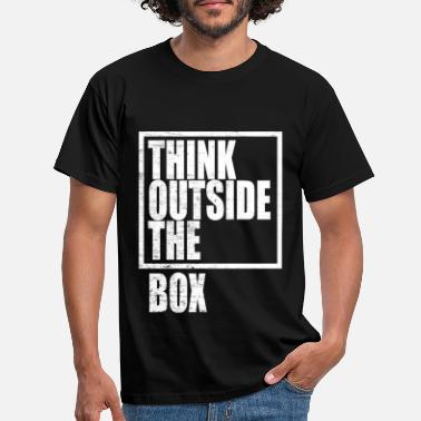 User Think Outside The Box / Design Thinking - Männer T-Shirt