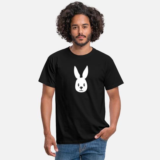Bunny T-Shirts - bunny hase gesicht häschen rabbit - Men's T-Shirt black