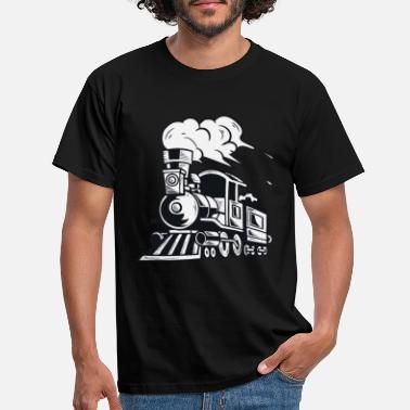 Steam Steam Engine Train Locomotive Gift - Men's T-Shirt