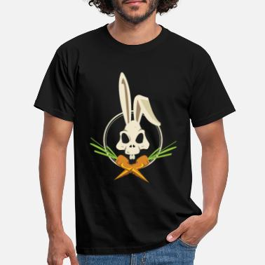 Skull And Crossbones Skull and Crossbones Easter Bunny with Carrots - Men's T-Shirt