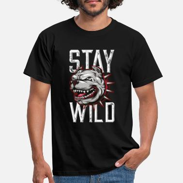 Wild Dog Dog Bulldog Wild - Men's T-Shirt