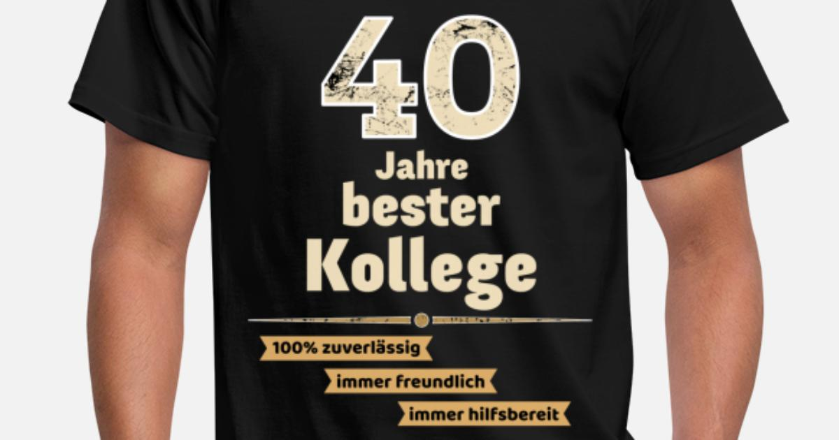 40 jahre bester kollege männer t-shirt | spreadshirt