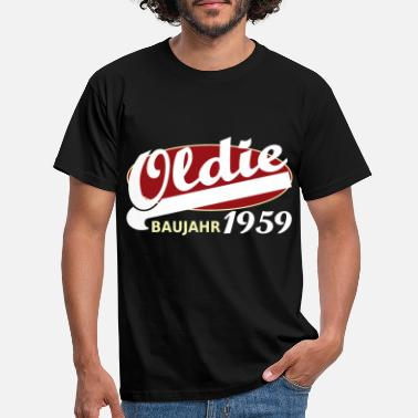 Birth Year Oldie 1959 year of birth year old timer - Men's T-Shirt
