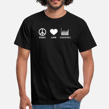 Peace Data Analyst Peace Love Statistics Gift - T-shirt mænd