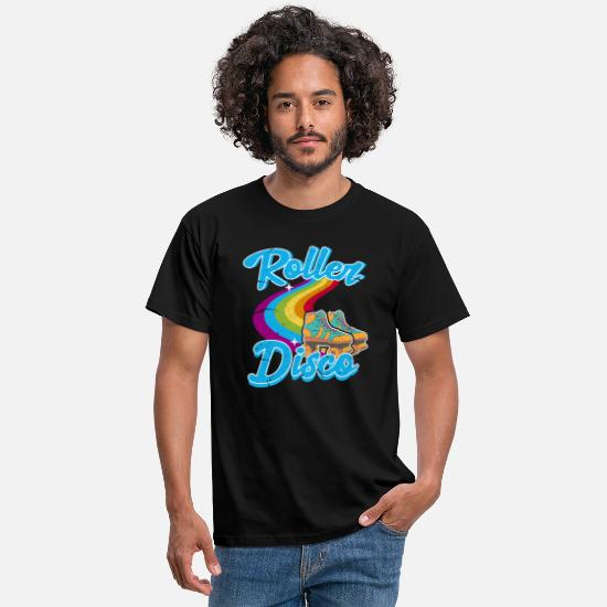 Birthday T-Shirts - 80s roller disco roller skates roller skating - Men's T-Shirt black