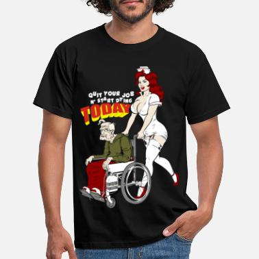 Retirement Nurse And The Playboy Old Man - Men's T-Shirt
