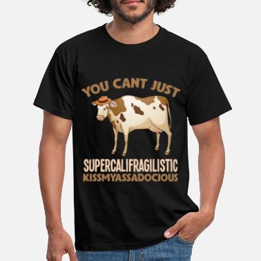 Cow Sarcastic supercalifragilistic cow - Men's T-Shirt