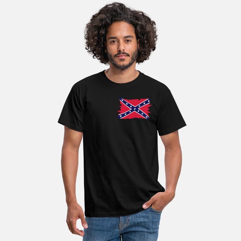Shirts Drapeau Homme Sudiste Shirt 3 Tee T Noir w0O8nPkX