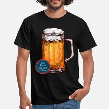 Mass Who really hod zoid a mass Bavarian humor fun - Men's T-Shirt