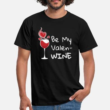 Cupide Be My ValenWINE Funny V-Day Wine Lover - T-shirt Homme